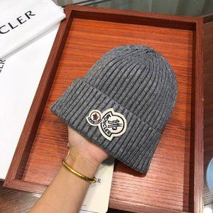 Moncler Gray LOGO-PATCHED HAT